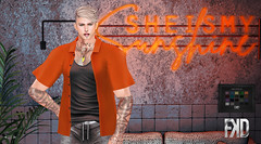 She Is My Sunshine (Lucius Starfall (Starfall Studios)) Tags: fkd fashion men blond blog blogging shirt secondlife sensual straydog stealthic signature sl realevil clblue mesh