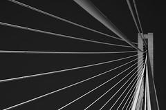 Rio–Antirrio Bridge (Thomas Mülchi) Tags: patras rio westgreece greece 2018 charilaostrikoupisbridge gulfofcorinth peloponnese antirrio bridge bw monochrome blackandwhite architecture blue bluesky clear clearsky sky sun sunny