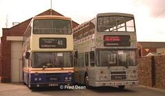 Dublin Bus RH5/125 (90D1005/91D10125). (Fred Dean Jnr) Tags: busathacliath dublinbus pboro leyland olympian alexander rh rh5 rh125 90d1005 91d10125 bangor down april1998 alloverad carlsberg irishtransporttrust