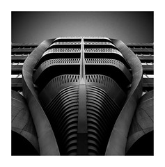 Warrior (TS446Photo) Tags: architecture nikkor mono building europe facade black white silver war angry fineart