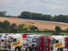 G-HIOW (BenGPhotos) Tags: 2019 btra british truck racing association thruxton eurocopter ec135 ghiow hampshire isleofwight air ambulance