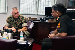 """Lt. Gen. Clardy meets with Indian Brigadier General Sharma from the Integrated Defence Staff (#PACOM) Tags: iiimef okinawa japan india indianbrigadiergeneral usindopacificcommand """"usindopacom"""