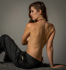 (shawncrowley1) Tags: pinstripe suit naked woman model seattle