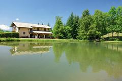 Riserva naturale Orecchiella - Appennino Tosco emiliano (Darea62) Tags: house trees reflections landscape pond stagno orecchiella garfagnana park tuscany travel outside marumi