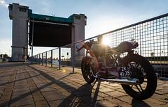 Moto Guzzi V50 I Cafe Racer (bramtop_1990) Tags: caferacer cafe racer moto guzzi v50 1979 rebuilt bike sun prinses maxima sluizen evening sundown oldskool lith netherlands holland dutch nikon d610 tamron 2470mm f28 g2