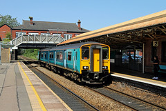 150255 Caerphilly (CD Sansome) Tags: caerphilly station arriva train trains transport for wales tfw keolis amey sprinter 150 150255