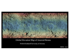 Global Elevation Map of Asteroid Bennu (Lunar and Planetary Institute) Tags: bennu osirisrex