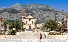 Makarska (Sa Scha LC) Tags: panorama makarska kroatien croatia kirche kirchturm church tamron tamronlens canon700d canon vacation dalmatien dalmatia berge tamronsp35