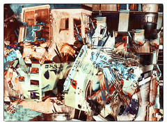 color abstract #27 (Pomo photos) Tags: leica leicax2 digital surreal surrealism expressionism color abandoned colored colours city cityscape urban abstract abstraction art creative doubleexposure photoshop blue red magenta green car plant tree