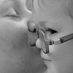 Joy / Радость (Boris Kukushkin) Tags: woman child bw closeup portrait square женщина ребенок чь квадрат приближение