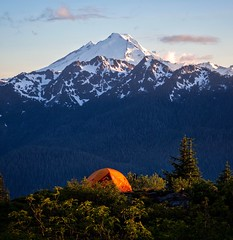 Mount Baker - Instagram @danplotts (plottsdaniel) Tags: washington pnw summer mountains sunset northcascades cascades mountbaker wilderness tent camping canon
