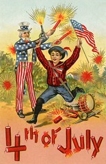 Have a Rootin' Tootin' Shootin' Fourth of July! (Alan Mays) Tags: ephemera postcards greetingcards greetings cards paper printed independenceday fourthofjuly 4thofjuly july4 july4th 4th fourth holidays patriotic stars stripes fireworks firecrackers unclesam men clothes clothing hats beards children boys guns swords musicalinstruments drums cannons flags illustrations red white blue yellow 1912 1910s antique old vintage typefaces type typography fonts