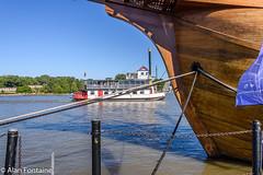 NAO Santa Maria (Al Fontaine) Tags: river harbor sailing riverside charlotte tallships caravelle salls harbortownbelle naosantamaria