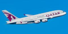 Qatar Airways Airbus A380-861 A7-API (Thames Air) Tags: qatar airways airbus a380861 a7api london heathrow 09r banker feltham park