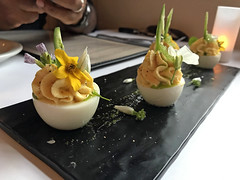 Miso deviled eggs (mariamjaan) Tags: restaurants philo mendocino travel food