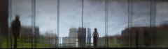 Thunderstorms End At 6 (Luther Roseman Dease, II) Tags: summer people reflection view depth color streetphotography angle triumph rain water sky lines quadrants framing atmosphere mood impression art artist light silhouette perspective scale edge urban city skyline daylight dof humanelement public form
