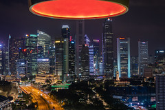 Under a Red Light Singapore at Night (RoTTeN aPPLe WaYFaReR) Tags: singapore centralregion night nightscape buildings highway cars concretejungle neon bright lights red skyscrapers sony fe24105mmf4goss sonya7r3 mirrorless zoom lens e mount alpha kit