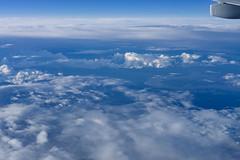 Kama river, Russia (Luke Kwiatkowski) Tags: 2016 fyling sky blue clouds flight kama river russia