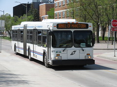 Winnipeg Transit 977 (TheTransitCamera) Tags: wt977 winnipegtransit transit transportation transport travel citybus bus fixedroute publictransit publictransport nfi newflyerindustries d60lf articulated artic bendybus winnipeg manitoba canada city urban route160