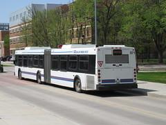 Winnipeg Transit 971 (TheTransitCamera) Tags: wt971 winnipegtransit transit transportation transport travel citybus bus fixedroute publictransit publictransport nfi newflyerindustries d60lf articulated artic bendybus winnipeg manitoba canada city urban
