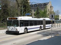 Winnipeg Transit 971 (TheTransitCamera) Tags: wt971 winnipegtransit transit transportation transport travel citybus bus fixedroute publictransit publictransport nfi newflyerindustries d60lf articulated artic bendybus winnipeg manitoba canada city urban route160