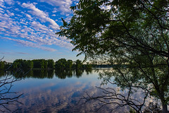 Early Morning at the Ottawa River (runningman1958) Tags: nikon d7200 nikond7200 ottawariver waterscape river reflection clouds morning nature