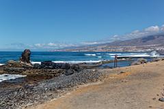 Costa Adeje, Santa Cruz de Tenerife, Canary Islands, Spain (wildhareuk) Tags: beach canaryislands canon canoneos500d concrete seascape spain tamron18270mm tenerife tenerife2019 water rock tamron img9489dxo