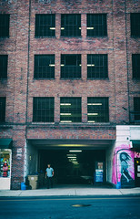 Taking it back... (Sarah Rausch) Tags: nashville streetphotography urban windowwednesdays windows human building wonky sony 45 2870 kitlens
