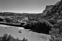 Canoeing Down The Rio Grande (Black & White, Big Bend National Park)