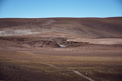 Road through Atacama (Sony J Thomas) Tags: landscape atacama desert chile road blue brown