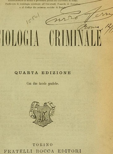 This image is taken from Sociologia criminale