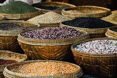 Beans in Baskets, Monywa Myanmar (AdamCohn) Tags: adam beans market burma streetphotography baskets myanmar cohn streetphotographer monywa adamcohn wwwadamcohncom explore explored flickrtravelaward