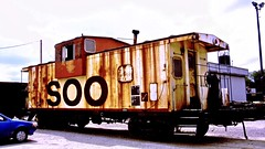 Olde caboose (THE RESTLESS RAILFAN) Tags: caboose soo rust red
