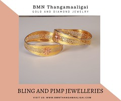 Bling And Pimp Jewelleries (bmnthangamaaligai2019) Tags: goldjewellery diamondjewellery bridal collections bridaljewelry gold earrings diamond