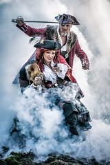 Pirates (Dannis van der Heiden) Tags: pirates gun sword dagger smoke scar fantasy juwellery jewelry rings action actors man woman chain cool attack schnitzeljacht nuenen netherlands nikond750 d750 tamron70210mmf4