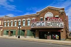 Lincoln Theatre, Lincoln, IL (Robby Virus) Tags: lincoln illinois il grand8 cinema theatre theater marquee neon sign signage