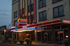 D&R Theatre (Curtis Gregory Perry) Tags: aberdeen washington dr theater neon sign night longexposure nikon d810 color colorful light theatre rainbow