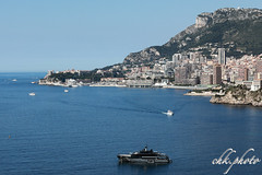 Monaco, hotspot at the Cote d'Azur (chk.photo) Tags: ocean landschaft outdoor landscape water light skyscraper architektur wolkenkratzer yacht frankreich monaco france ship skyline montecarlo boot coted'azur architecture flickrtravellaward boat flickr meer