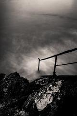 Untitled (LoKee Photo) Tags: lokee lowkey black white monochrome fine art long exposure ocean water stairs fujifilm x100s