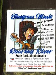 Bluegrass Music (MarkusR.) Tags: dsc00517 mrieder markusrieder vacation urlaub fotoreise phototrip usa 2018 usa2018 sonydschx60 missouri bluegrass sign schild roaringriverstatepark