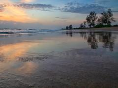 IMG_6201 ~ indah pagi (alongbc) Tags: sunrise reflection beach cloud sea sky landscape seascape shoreline coastline morning nature tree pantailanjut kualarompin malaysia pahang travel place trip canon eos700d canoneos700d canonlens 10mm18mm wideangle happyplanet asiafavorites