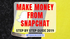 Make money from snapchat (1) (MyQuickCents) Tags: makemoneyonline earnmoneyfromhome makemoneyfromsnapchat