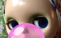 "BaD ""Bubblegum"" July 3, 2019 (Foxy Belle) Tags: blythe doll bubblegum gum pink bubble blow ashton drake adg blonde scarf"