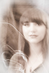 Ghostly Apparition (JRPics.) Tags: ghost face fade people movement model setup apparition ghostly sepia g