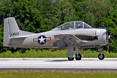 N9868A   (51-3513 / 13513) North American T-28A Fennec [174-51] Lakeland-Linder~N 16/04/2010 (raybarber2) Tags: 13513 17451 airportdata cn17451 filed flickr klal n9868a oldtimer planebase raybarber single usacivil warbird