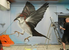 "In action ""the sparrow"" (José D...) Tags: mus spatz sparrow moineau varpunen pardal gorrión воробей τοσπουργίτι thehaguestreetart kijkduin björnb thehague streetart graffitiproject streetartproject opkijkduin flickraward flickrclick flickrstar flickrsun flickrsocial flickrbest flickrgroups flickrspecial flickrspirit"