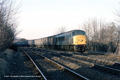 c.1986 - unknown location. (53A Models) Tags: britishrail sulzer type4 peak class451 45143 diesel passenger train railway locomotive railroad