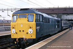 17/04/1982 - Birmingham (International). (53A Models) Tags: britishrail brush type2 class31 31117 diesel passenger birmingham international westmidlands train railway locomotive railroad