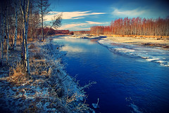 Магаданская область 004 res854 (Nagornov Alexey) Tags: landsape пейзаж nature природа river kolyma magadan russia winter snow sky blue forest wood ice beach