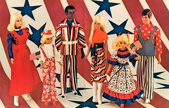 HAPPY INDEPENDENCE DAY! (ModBarbieLover) Tags: july 4th independence day barbie ken francie fluff brad doll mattel fashion bvintage mod 1972 red white blue